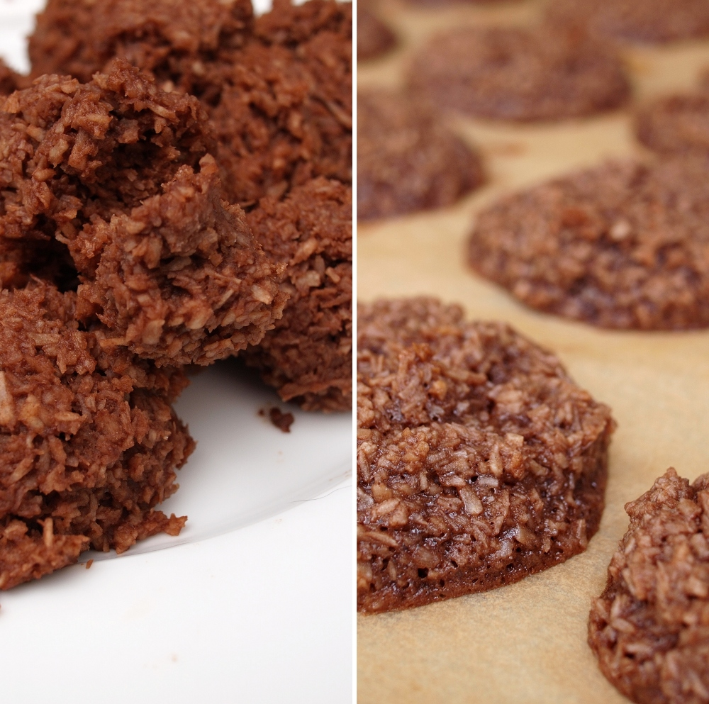 Chocolate Coconut Macaroons - Twice Cooked