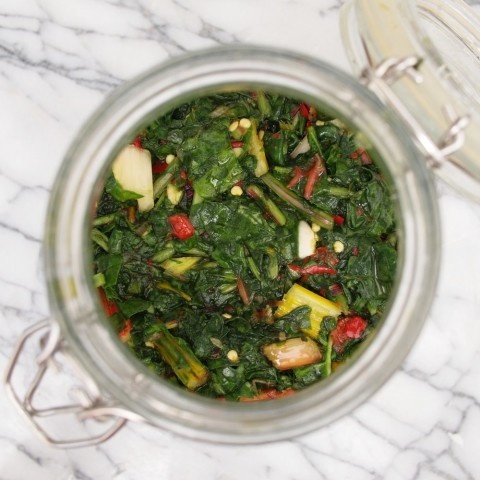 Spicy Fermented Greens