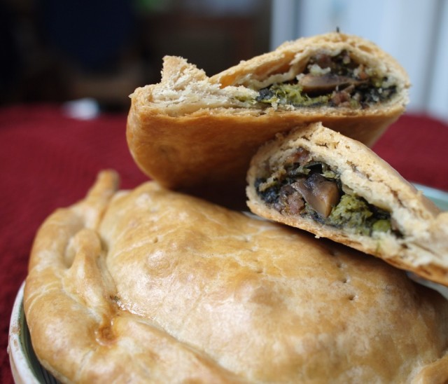 Meat Pies with Broccoli Rabe
