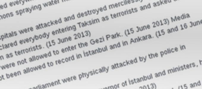 #OccupyGezi Timeline