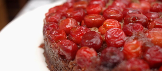 Sour Cherry Upside Down Cake