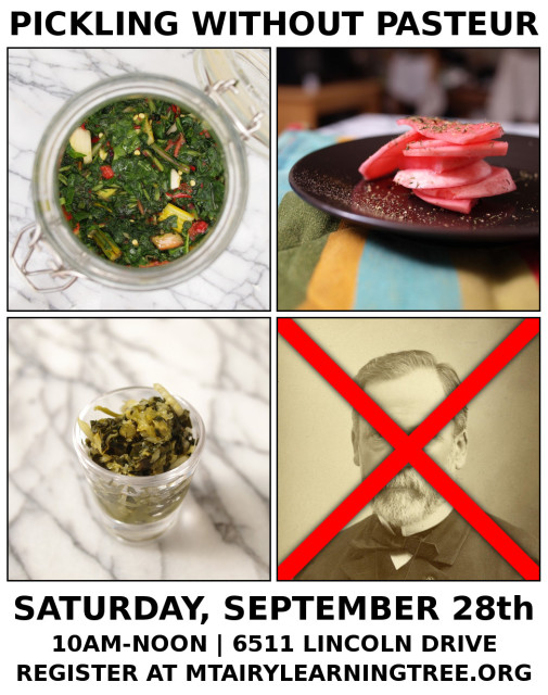 Fall Workshop: Pickling Without Pasteur