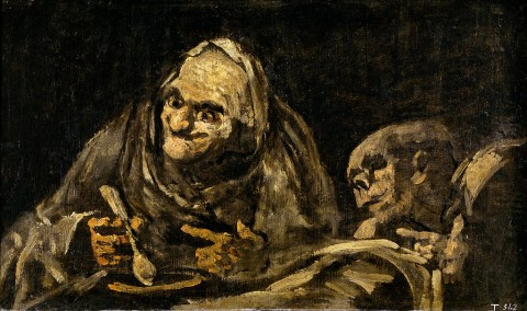 Viejos comiendo sopa (Two Old Men Eating Soup) by Francisco Goya