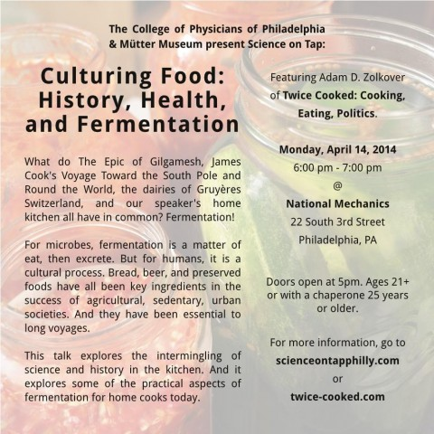 Science on Tap - Culturing Food: History, Health, and Fermentation