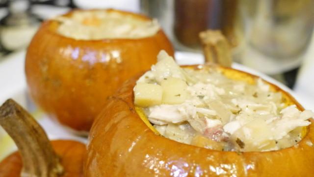 Pumpkin-Poultry Pot Pie