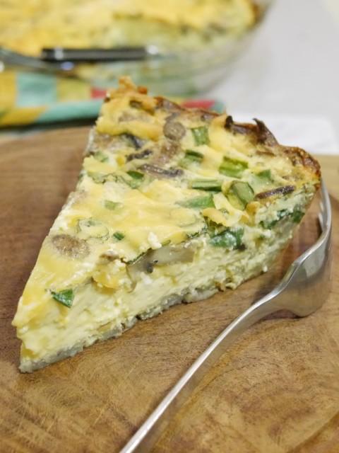 Gluten-Free Quiche with Potato Crust