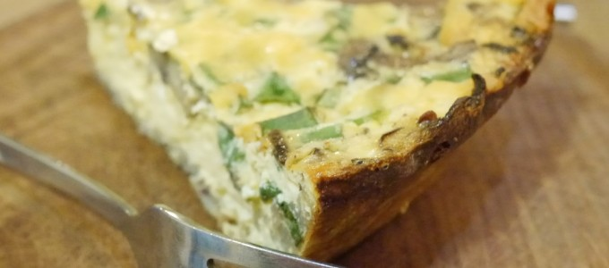 Gluten-Free Quiche with Potato Crust