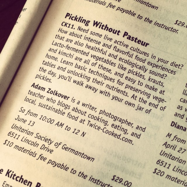 Pickling Without Pasteur, June 2015 Edition