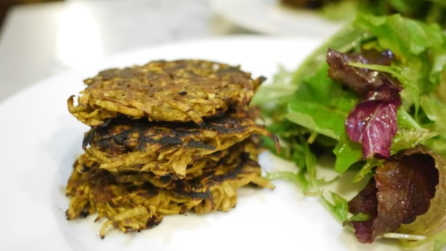 Curried Sweet Potato Pancakes